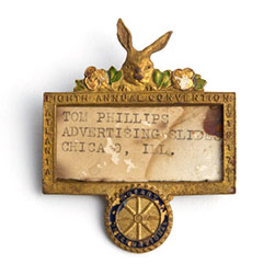 Name badge from the 1917 Atlanta Convention