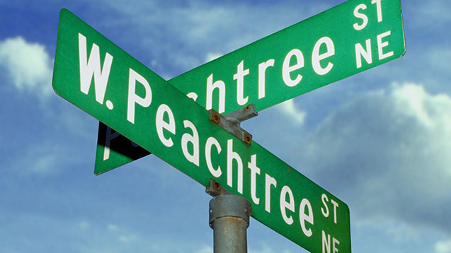Peachtree signs