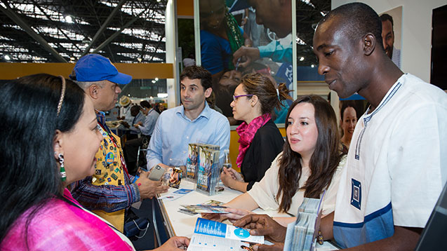 The Peace Centers booth in the House of Friendship, Rotary International Conventio